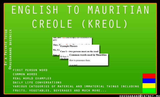 how to speak creole english