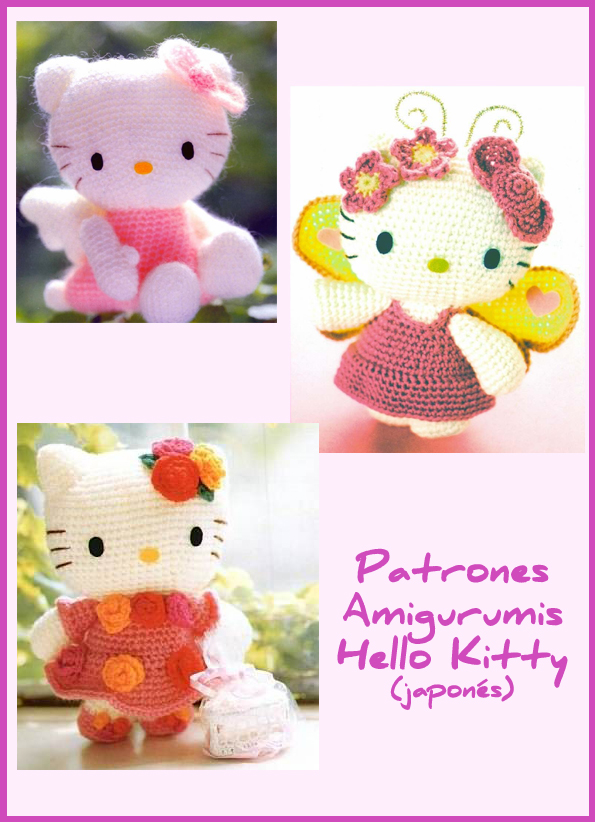 Mini Hello Kitty Amigurumi Patron : Patrones Amigurumis Hello Kitty