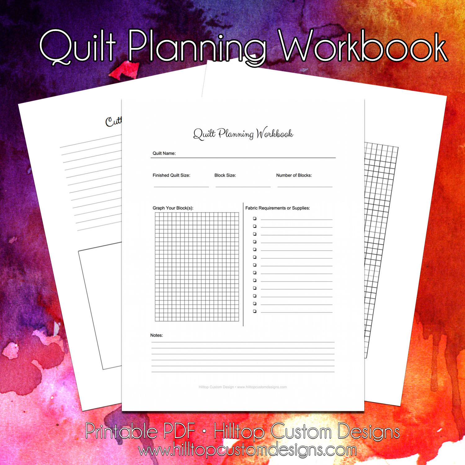 Quilt Planner Worksheet