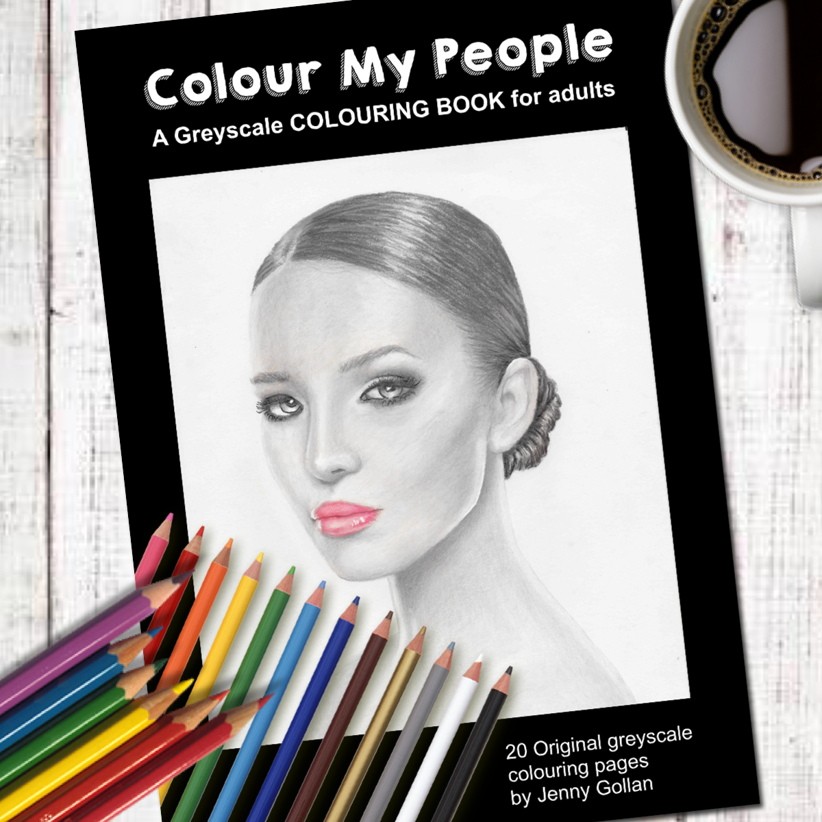 Colour My People Greyscale Colouring Book Payhip