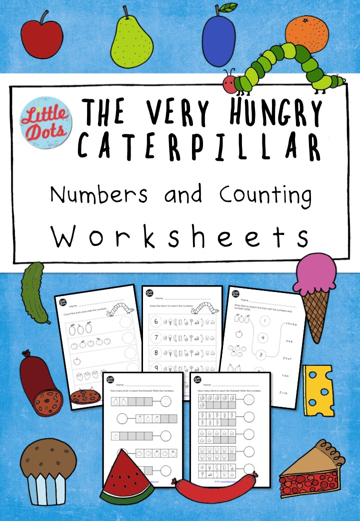 photo regarding Very Hungry Caterpillar Printable Activities identify The Fairly Hungry Caterpillar Counting Worksheets and Pursuits