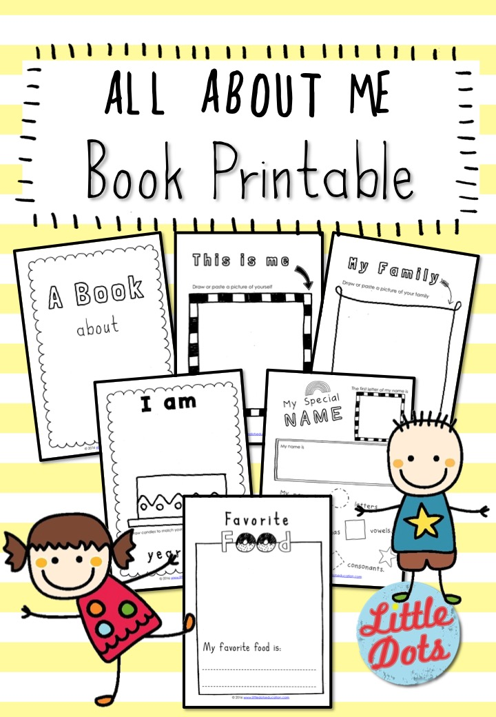photograph about All About Me Printable Book known as All more than Me Ebook Printable