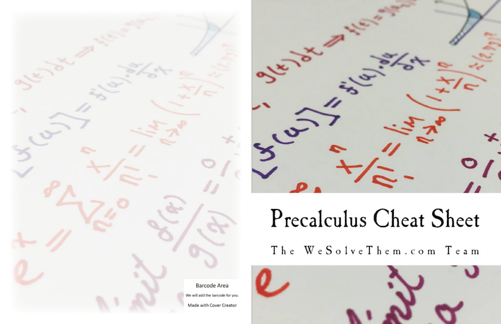 PreCalculus Formula Sheet with Examples by WeSolveThem