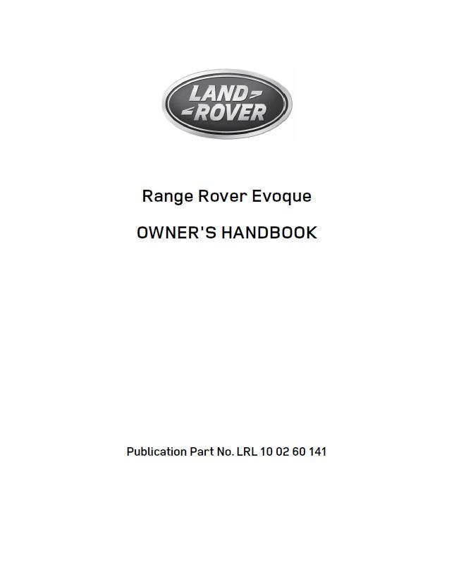 land rover evoque handbook