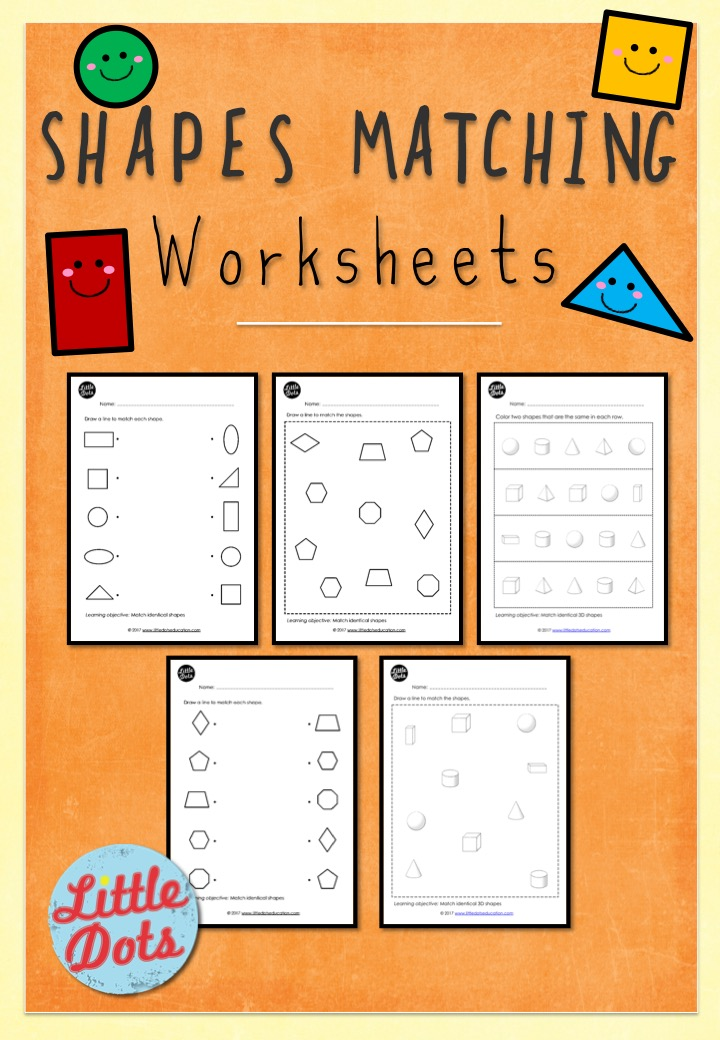 Preschool Shapes Matching Worksheets Payhip