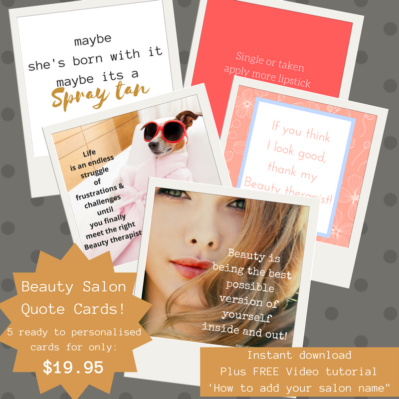 Social Media Quote Cards For Salons Beauty Set 1 Payhip