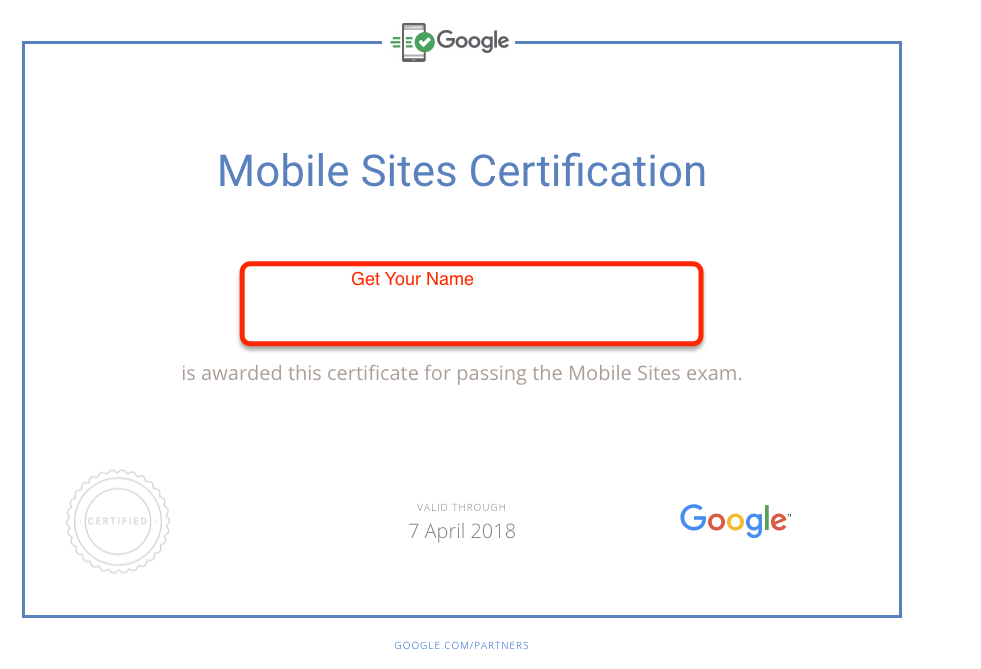 Adwords Mobile Certification Pdf