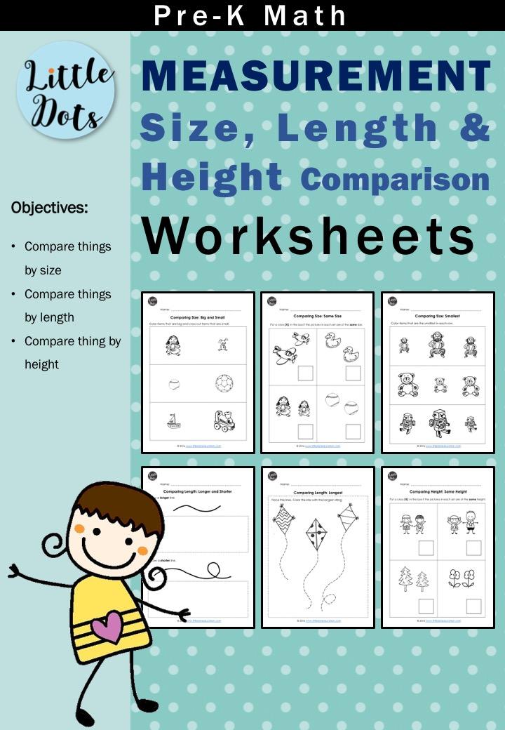 Comparing Length Worksheets For Kindergarten