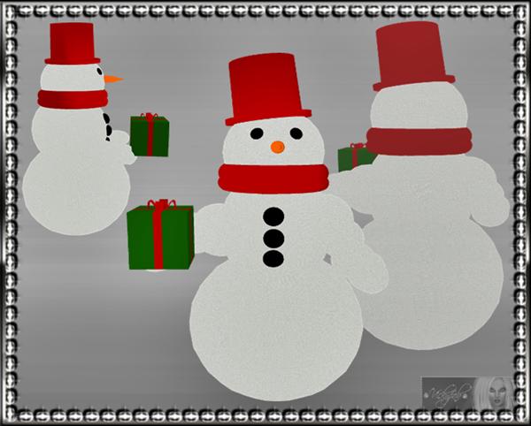 3-D Snowman Mesh -*Catty Only*