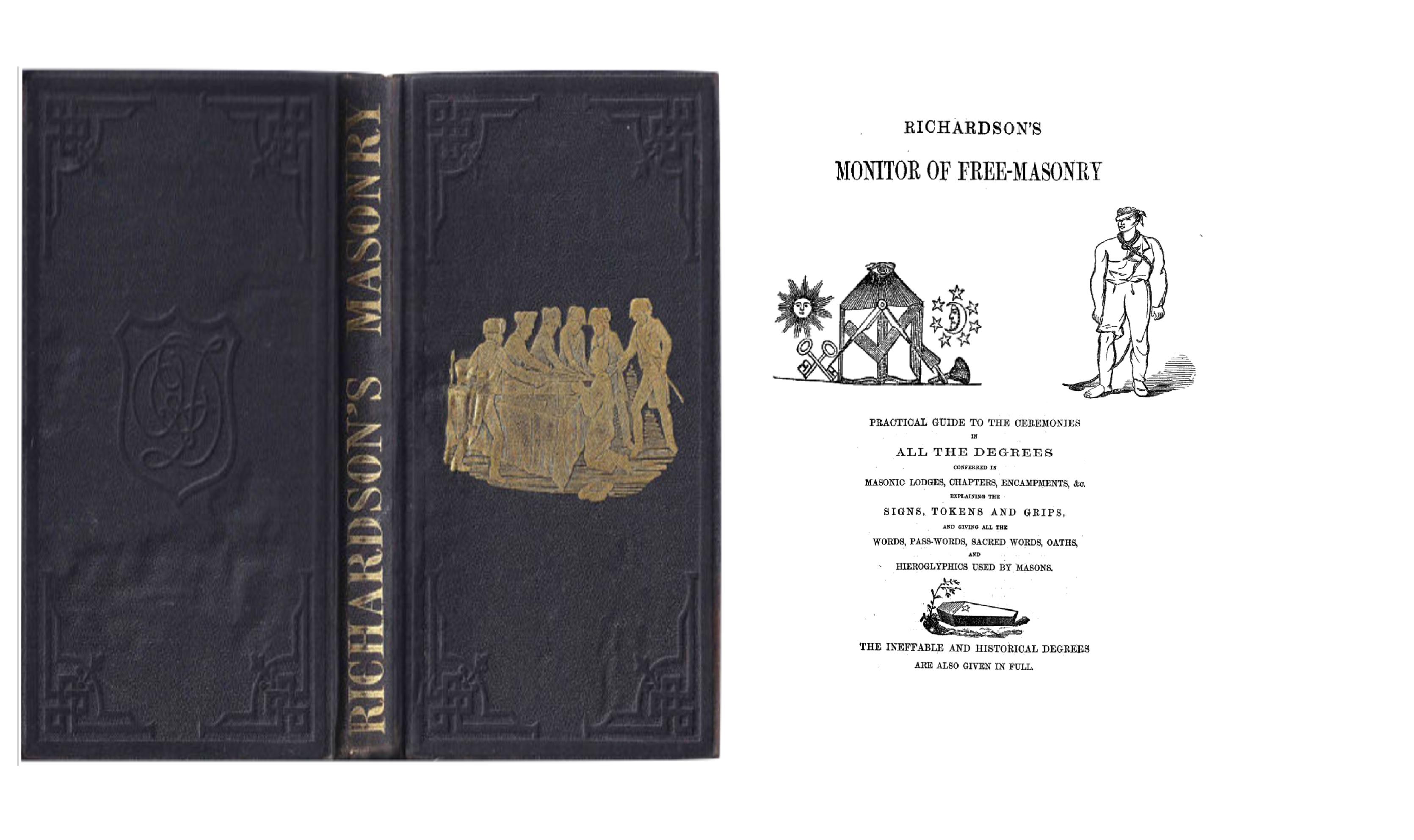 Richardson's Monitor of Freemasonry MASONIC BOOK Freemasonry