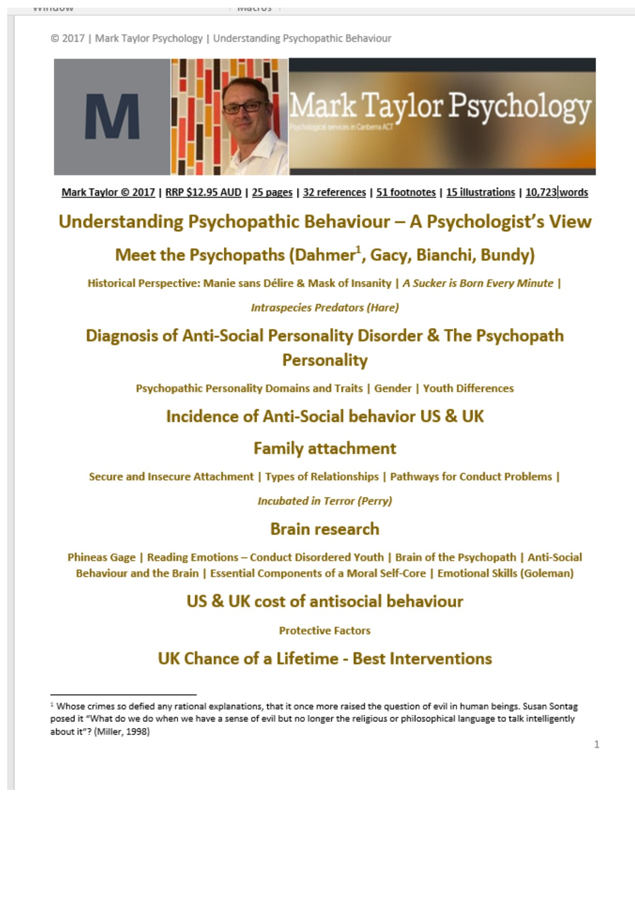 the origins of psychopathy and the human antisocial behavior