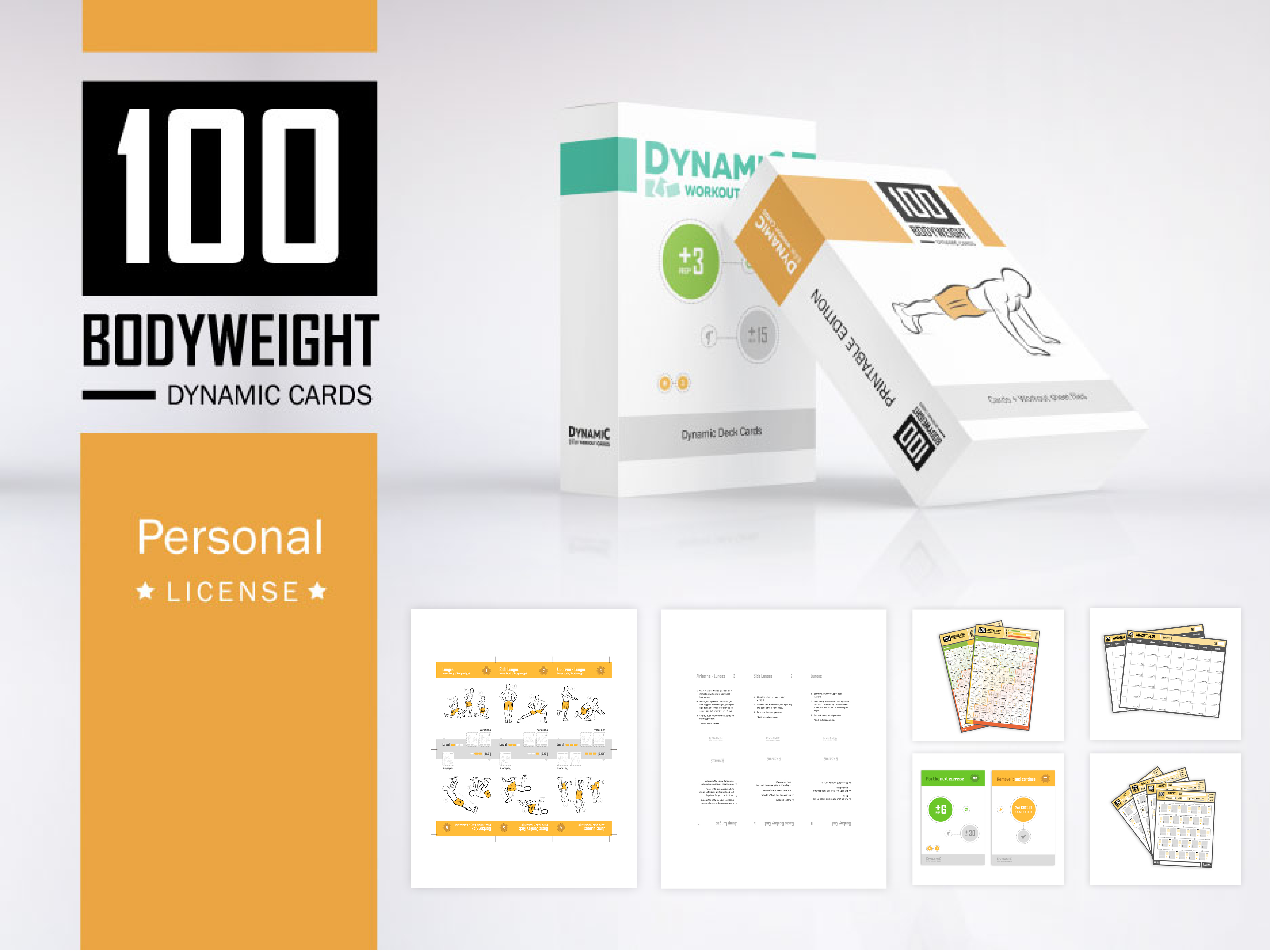 photo regarding Printable Workout Cards titled 100 Weight Playing cards + DW Playing cards / Unique License - PDF