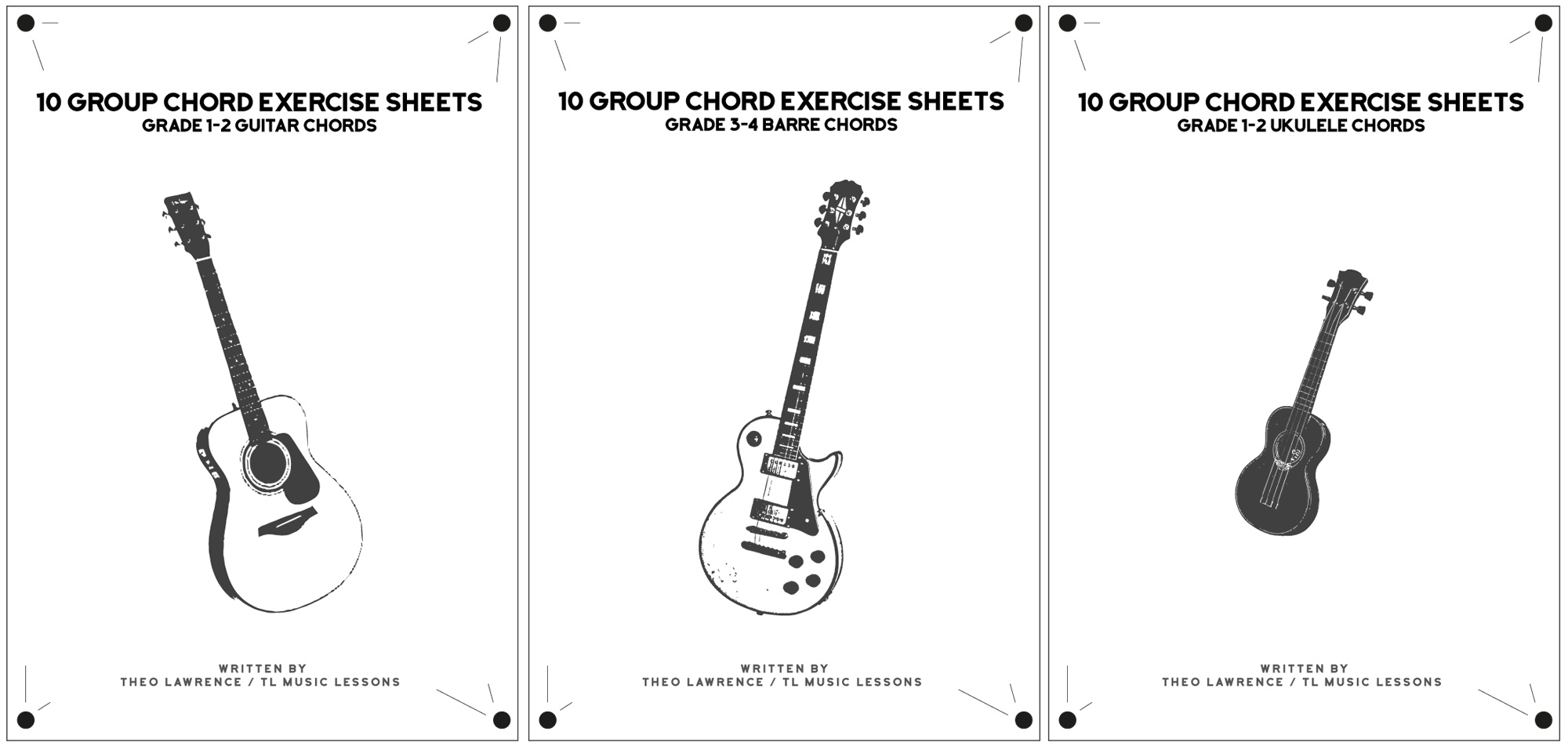 10 Group Chord Exercise Sheets Grade 1 4