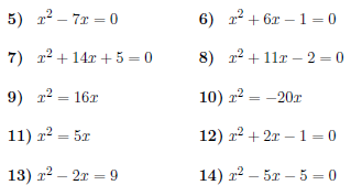 Solving quadratic equations by completing the square worksheet (with ...