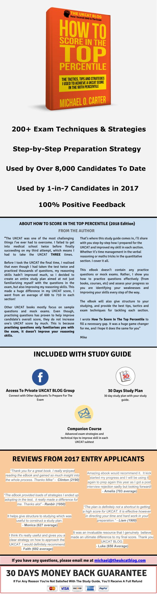 The UKCAT Study Guide: How To Score In The Top Percentile - Payhip