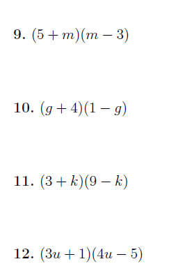 Multiplying out two brackets worksheet no 2 (with solutions)