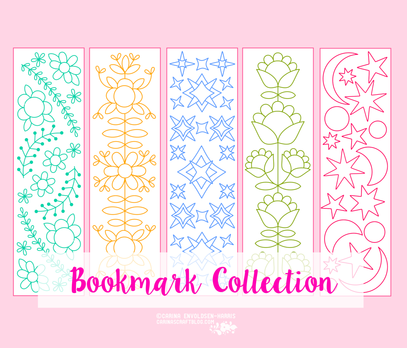 Bookmarks Collection Embroidery Pattern