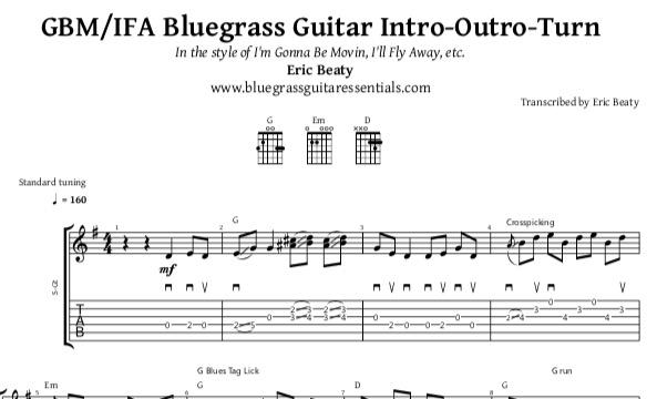 Tablature Gbmifa Bluegrass Guitar Intro Outro Turn