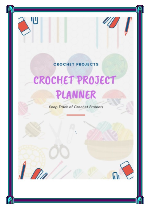picture relating to Printable Project Planner referred to as Printable Crochet Job Planner Down load
