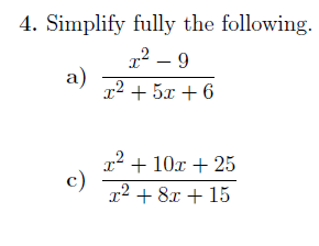 Expanding, factorising and simplifying algebraic expressions ...