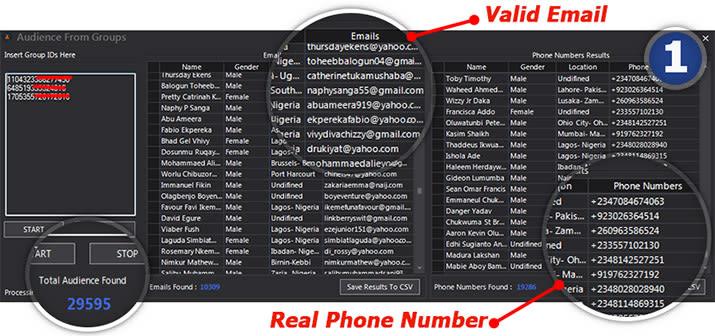 Facebook Audiens Extractor Pro v7 1 - Social Media Marketing Tool