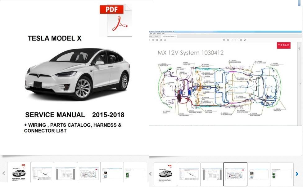 Tesla Model X 2015 2016 2017 2018 Service Repair Workshop