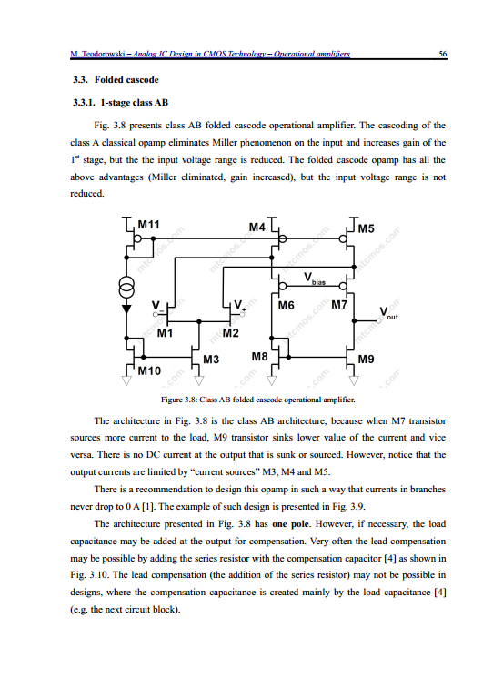 ANALOG IC DESIGN IN CMOS TECHNOLOGY – OPERATIONAL AMPLIFIERS