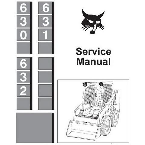 Bobcat 630, 631, 632 Skid-Steer Loader Repair Service Manual - 6556454 -  PayhipPayhip
