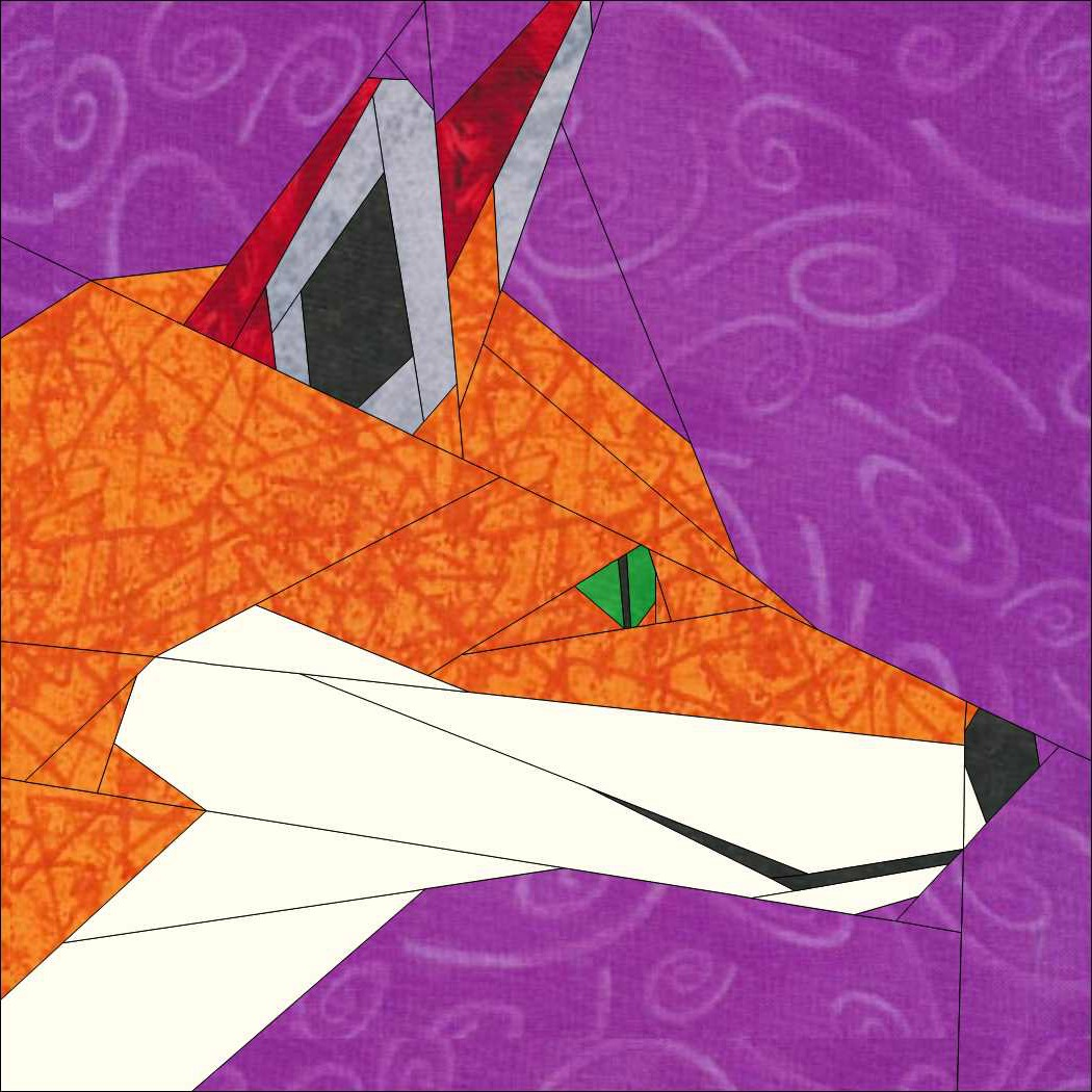 The Cunning Mr Fox A 12 Inch Paper Pieced Pattern Payhip