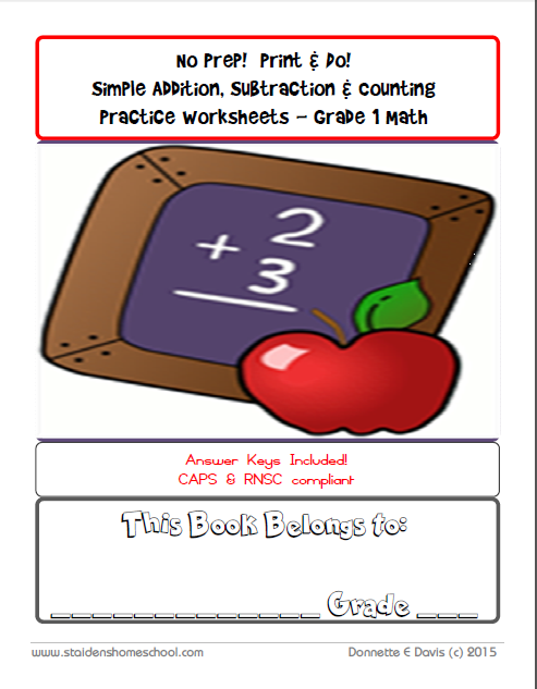 No Prep Print Do Simple Addition Subtraction Counting