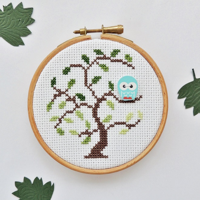 Wise Little Owl - free cross stitch pattern - Payhip