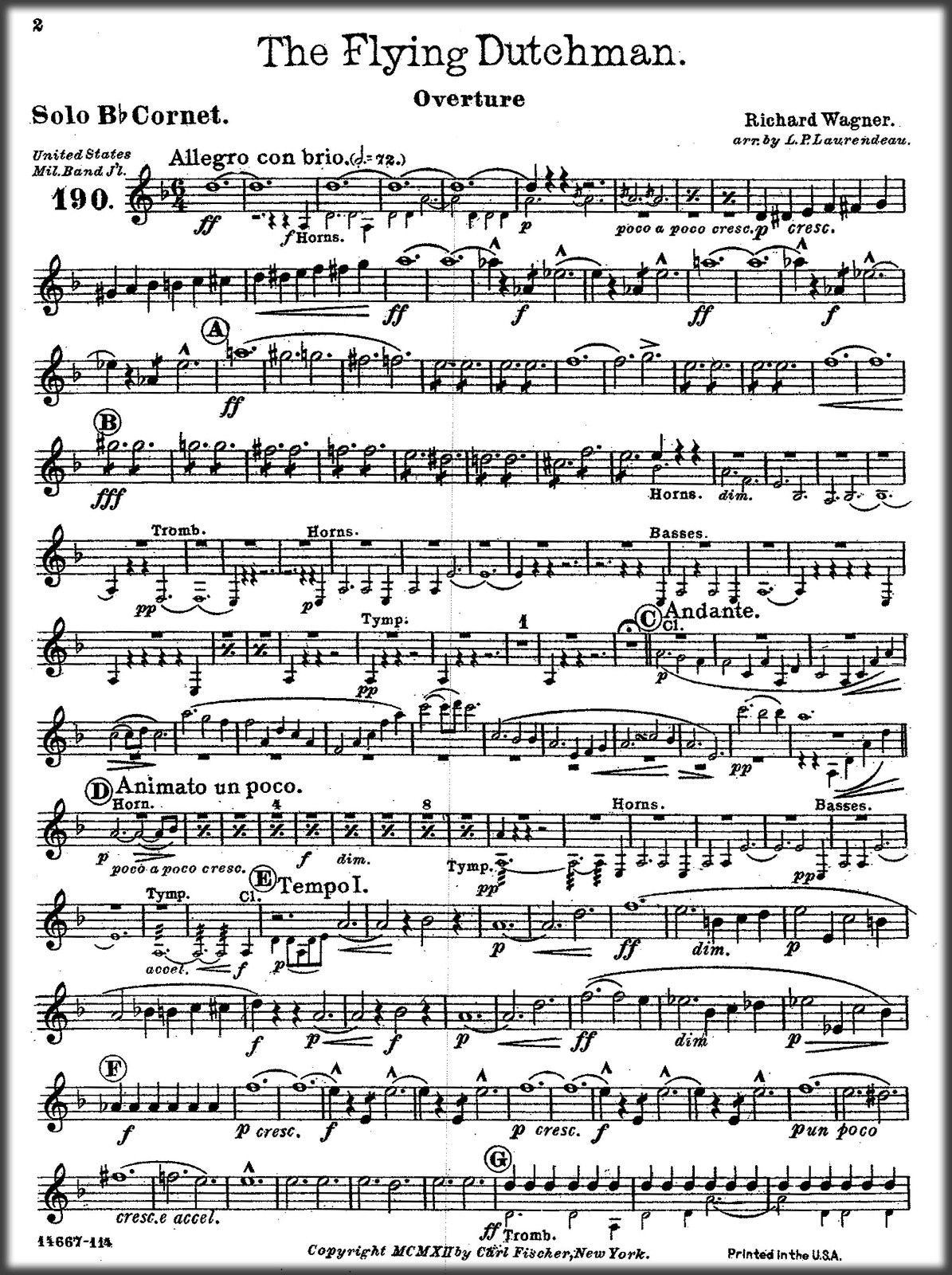 Marching Band Sheet Music - The Flying Dutchman Overture by Richard Wagner  EBOOK PDF