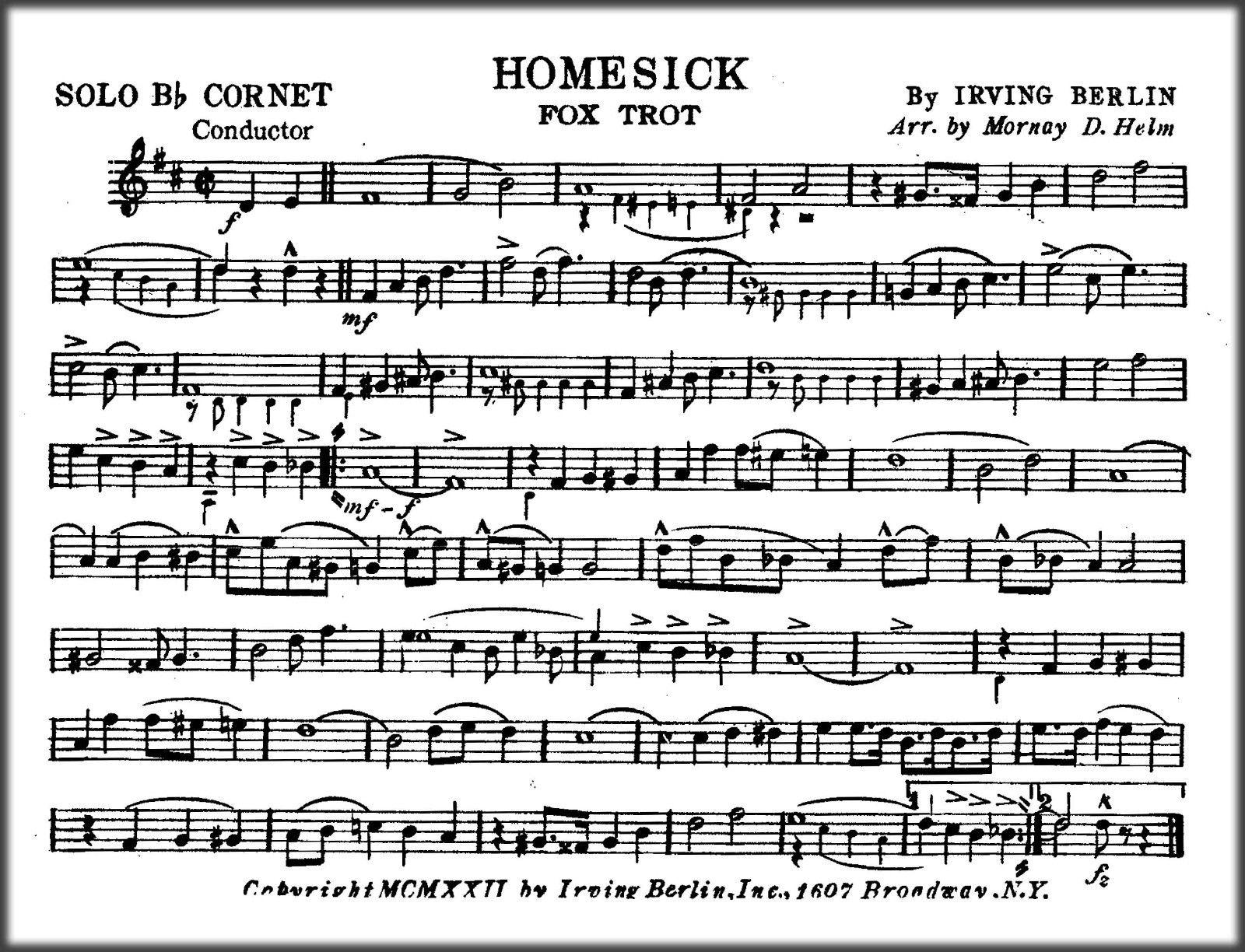 Marching band sheet music homesick fox trot irving berlin marching band sheet music homesick fox trot irving berlin ebook pdf fandeluxe Ebook collections