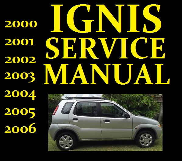 Suzuki Ignis Service Workshop Repair Manual Wiring Part Rg413 Rg415 Used 2000 2001 2002 2003